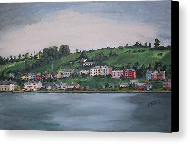 Landscape Canvas Print featuring the painting Cork City Ireland by Kevin Callahan