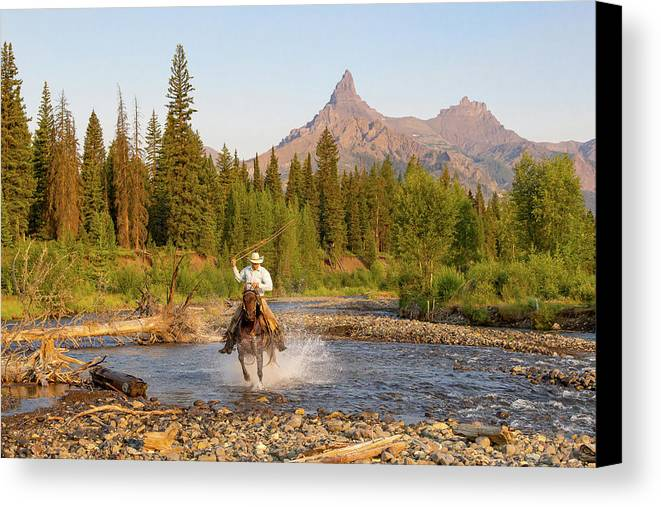 Cowboy Canvas Print featuring the photograph Cowboy Country by Jack Bell