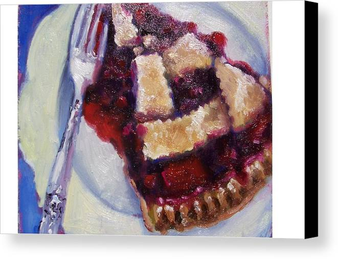 Painting Canvas Print featuring the painting Cranberry Raisen Pie     by Susan Jenkins