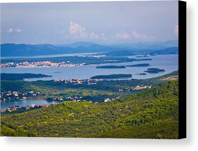 Kornati Canvas Print featuring the photograph Croatian Islands Archipelago Aerial View by Brch Photography