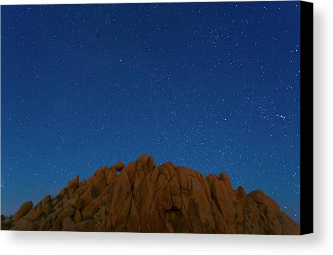 Brian Knott Canvas Print featuring the photograph Crumbling Under The Weight Of Stars by Brian Knott Photography
