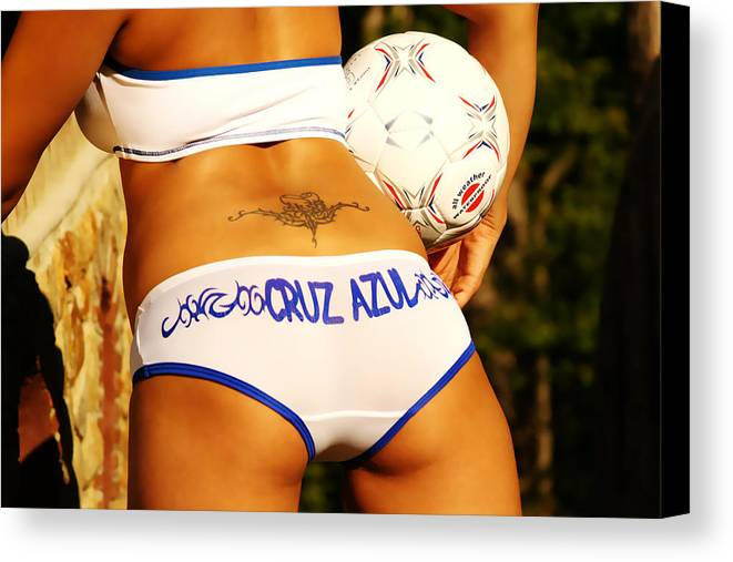 Female Canvas Print featuring the photograph Cruz Azul by Tom Miles