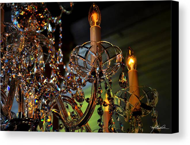 Crystal Canvas Print featuring the photograph Crystal Chandelier 1 by Melissa Wyatt