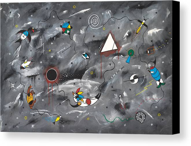 Native Canvas Print featuring the painting Cultures by Arnold Isbister