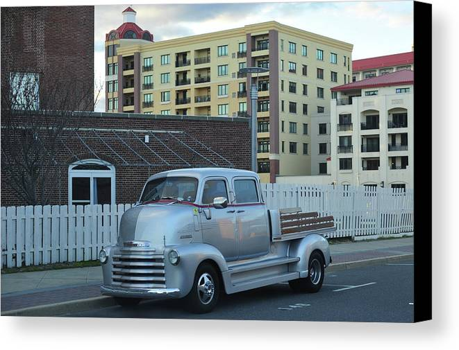 Terry D Photography Canvas Print featuring the photograph Custom Chevy Asbury Park Nj by Terry DeLuco
