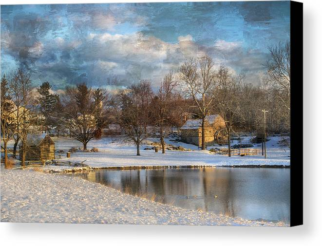 Kathy Jennings Canvas Print featuring the photograph Cyrus Mccormick Farm by Kathy Jennings