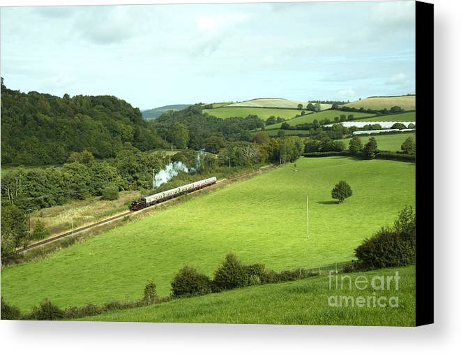 L92 Canvas Print featuring the photograph Dart Valley Steam by Rob Hawkins