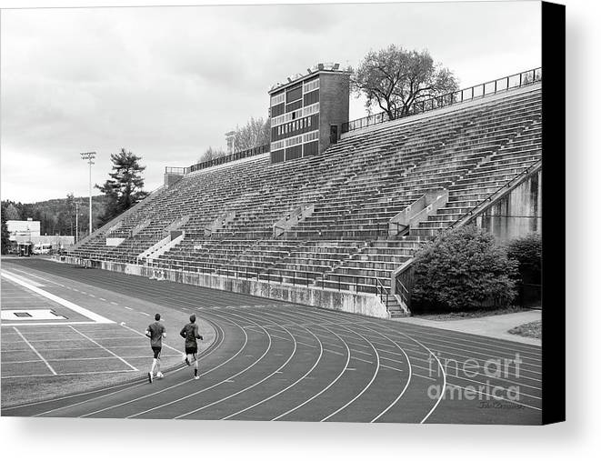 Big Green Canvas Print featuring the photograph Dartmouth College Memorial Field by University Icons