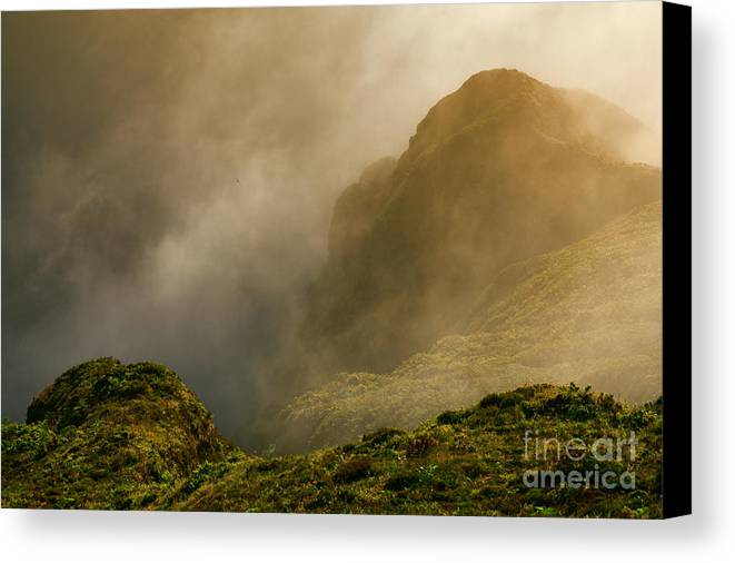 Azores Canvas Print featuring the photograph Dawn At Fogo Crater by Gaspar Avila