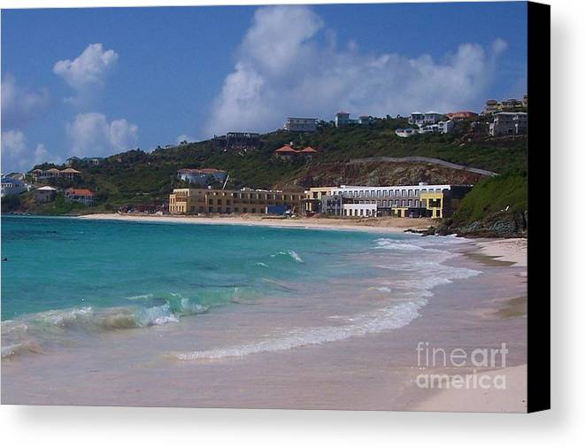 Dawn Beach Canvas Print featuring the photograph Dawn Beach by Debbi Granruth