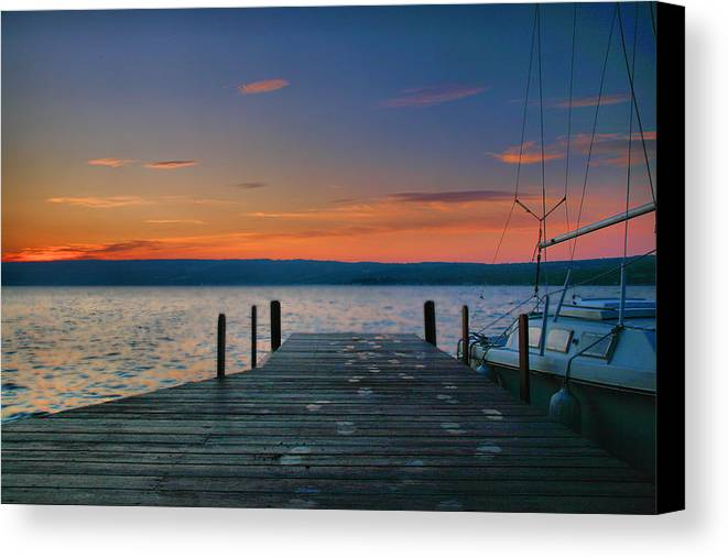 Sunrise Canvas Print featuring the photograph Dawn Breaking by Steven Ainsworth