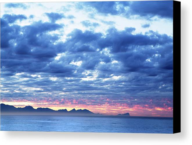 Dawn Canvas Print featuring the photograph Dawn Over False Bay 2 by Neil Overy