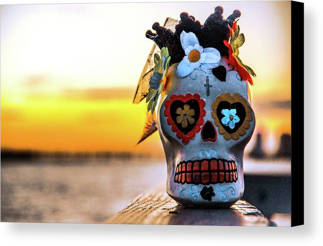 Los Muertos Canvas Print featuring the photograph Day Of The Dead by Michael Frizzell