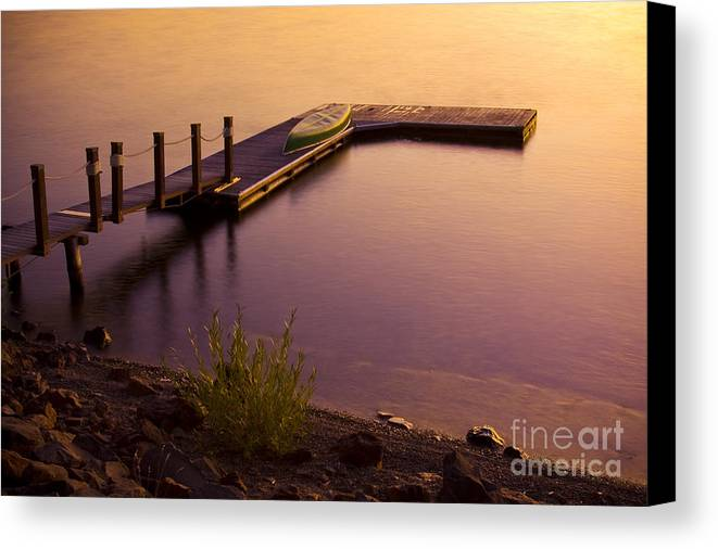 Dock Canvas Print featuring the photograph Days End by Idaho Scenic Images Linda Lantzy
