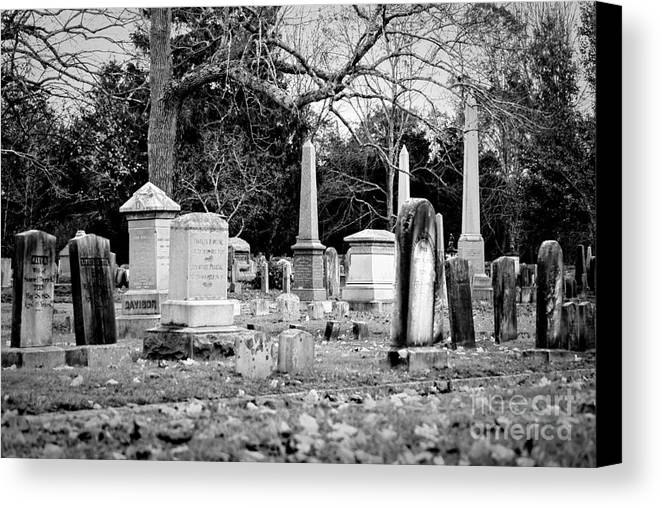 Cemetery Canvas Print featuring the photograph Deep Within Evergreen Cemetery by Joe Geraci