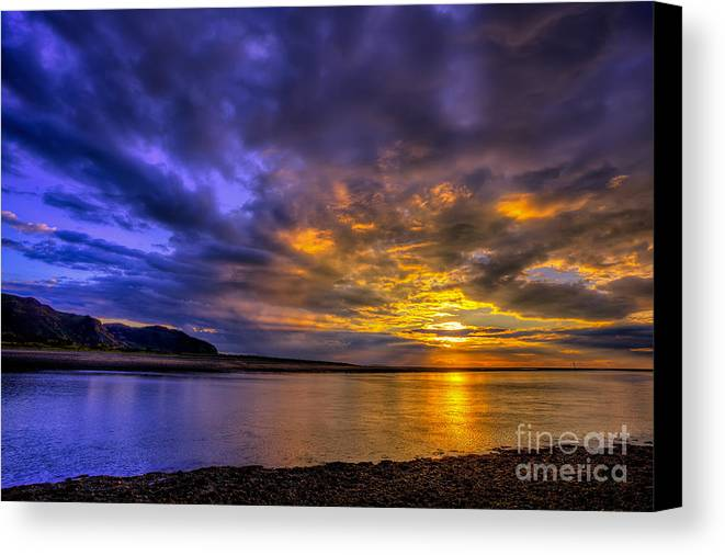 Sunset Canvas Print featuring the photograph Deganwy Sunset by Adrian Evans