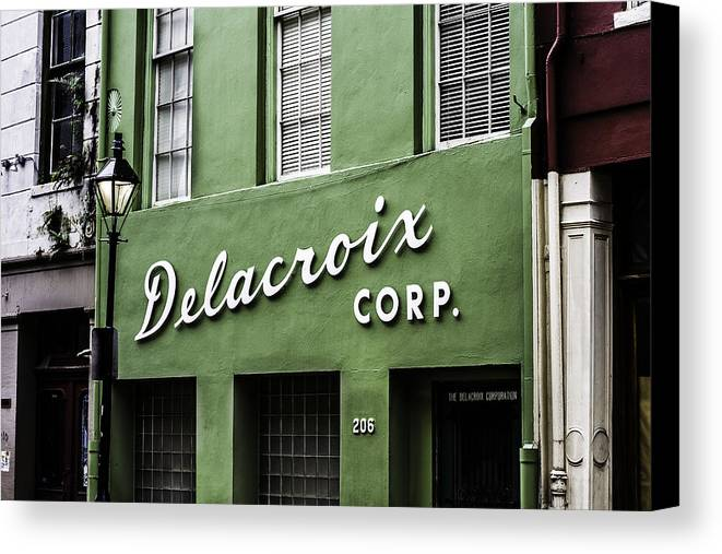 Delacroix Corp. Canvas Print featuring the photograph Delacroix Corp., New Orleans, Louisiana by Chris Coffee