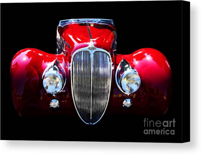 Car Canvas Print featuring the digital art Delahaye Reinterpreted by Wingsdomain Art and Photography