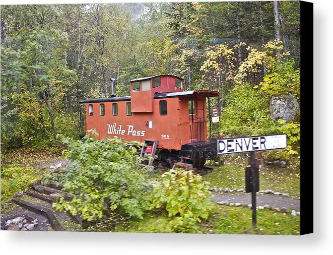 White Pass Line Canvas Print featuring the photograph Derailed by Robert Joseph