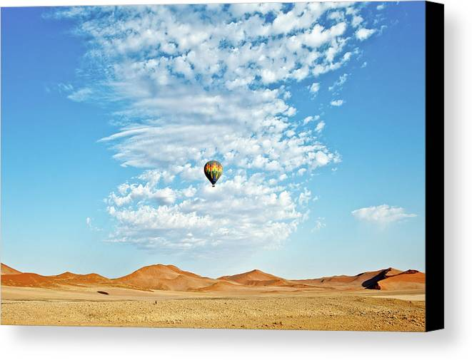 Namibia Canvas Print featuring the photograph Desert Balloon by Charel Schreuder