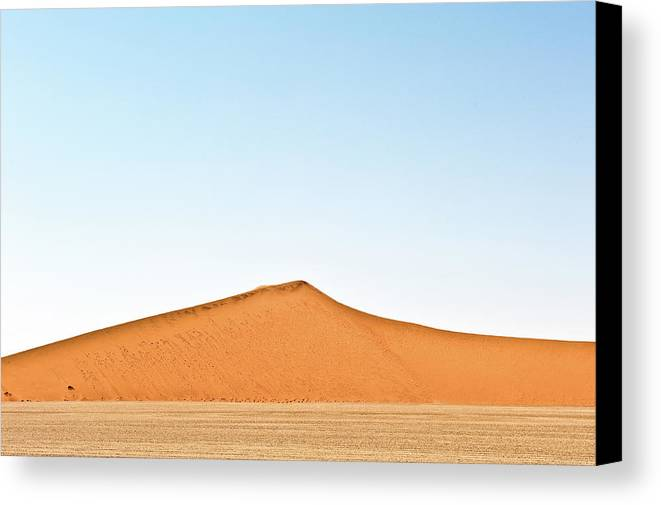 Namibia Canvas Print featuring the photograph Desert Lines by Charel Schreuder