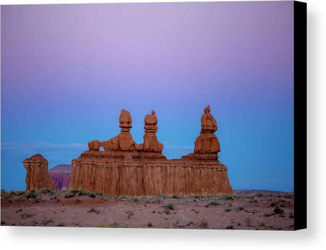 Three Sisters Canvas Print featuring the photograph Desert Sisters by Photopoint Art