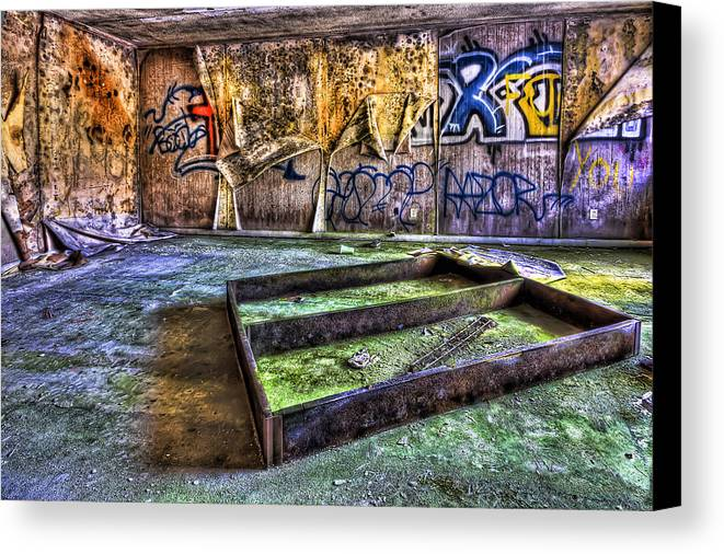 Abandoned Canvas Print featuring the photograph Destroya by Evelina Kremsdorf