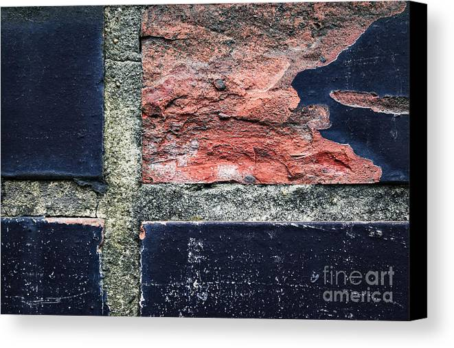 Wall Canvas Print featuring the photograph Detail Of Damaged Wall Tiles by Jozef Jankola