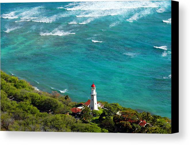 Lighthouse Canvas Print featuring the photograph Diamond Head Lighthouse by Patricia Isaman