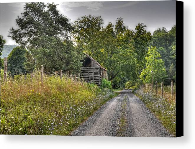 Landscape Canvas Print featuring the photograph Dirt Roads by Todd Hostetter