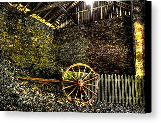 Farm Canvas Print featuring the photograph Discarded Cart by Scott Wyatt