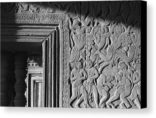 Angkor Wat Canvas Print featuring the photograph Door Frame by Marcus Best