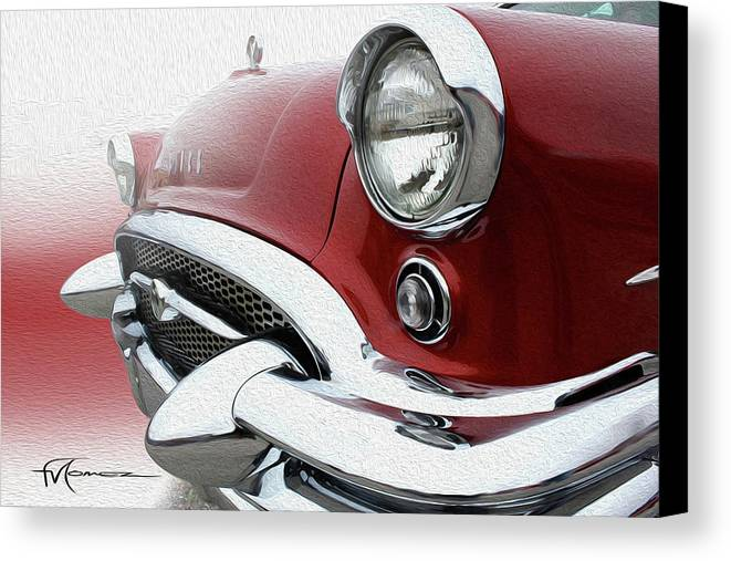 Classic Automobiles Canvas Print featuring the photograph Bustin' Bitchin' Buick by Felipe Gomez