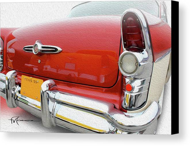 Classic Automobiles Canvas Print featuring the photograph Buick Reflecting by Felipe Gomez