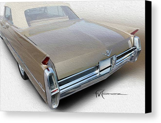 Classic Automobiles Canvas Print featuring the photograph Long Way To Go by Felipe Gomez