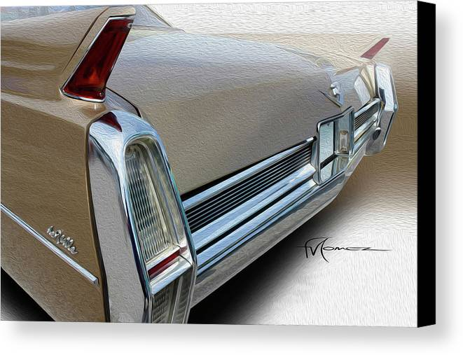Classic Automobiles Canvas Print featuring the photograph Gold Rush by Felipe Gomez