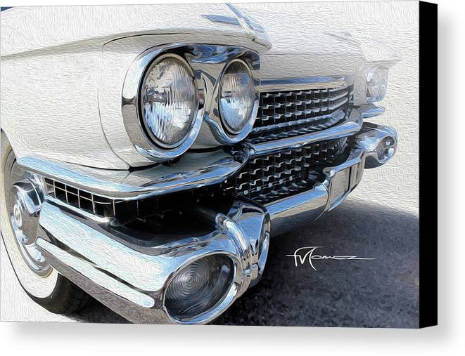 Classic Automobiles Canvas Print featuring the photograph Candid Cadillac by Felipe Gomez