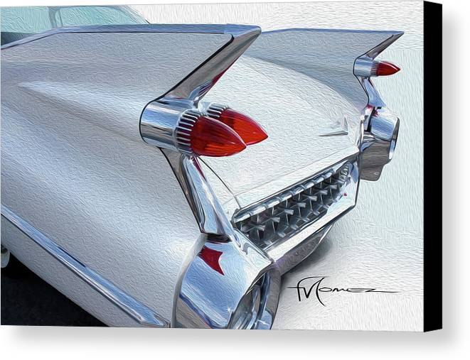 Classic Automobiles Canvas Print featuring the photograph Built For Space Travel by Felipe Gomez