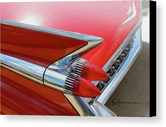 Classic Automobiles Canvas Print featuring the photograph Space Age Caddie by Felipe Gomez