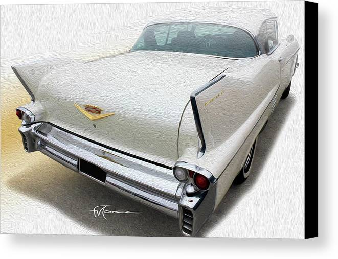 Classic Automobiles Canvas Print featuring the photograph White Wings by Felipe Gomez