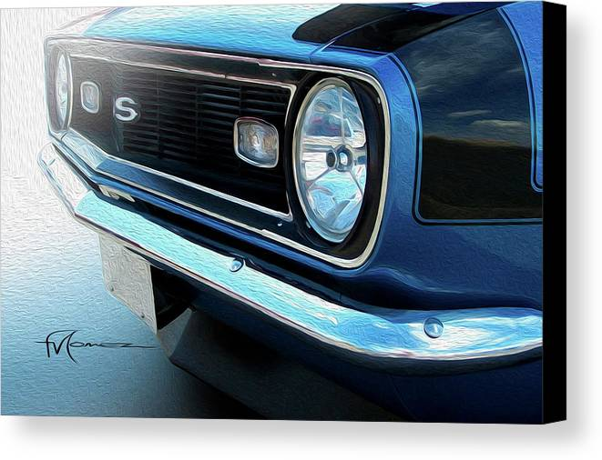Classic Automobiles Canvas Print featuring the photograph Blue Ss by Felipe Gomez