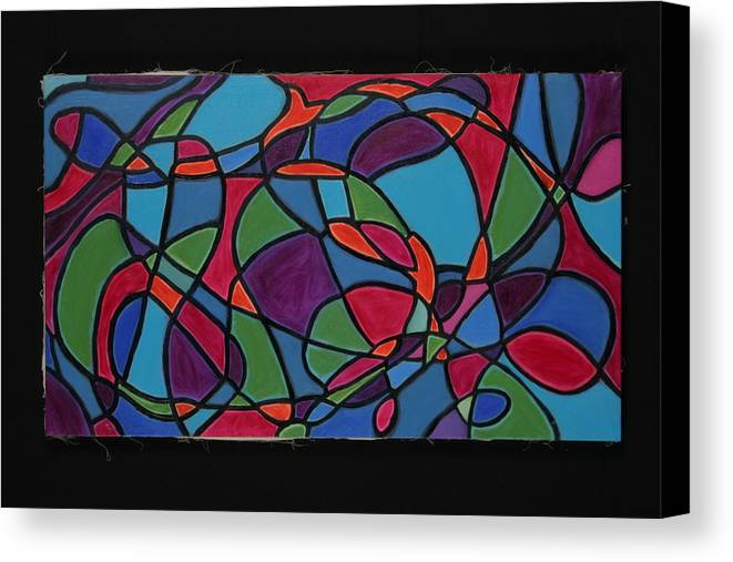 Abstract Canvas Print featuring the painting Dreaming Of Matisse by Mary Silver