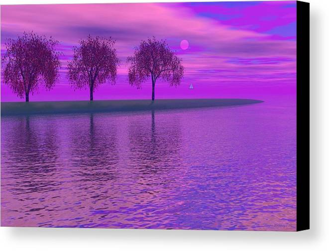 Digital Painting Canvas Print featuring the painting Dreaming by Wayne Bonney