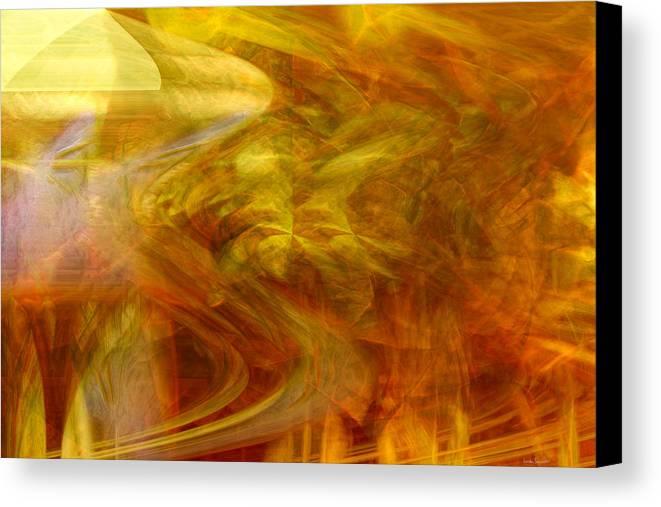 Abstract Art Canvas Print featuring the digital art Dreamstate by Linda Sannuti