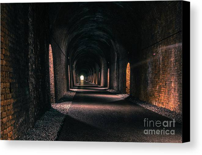 Tunnel Canvas Print featuring the photograph Durrow Tunnel by Marc Daly