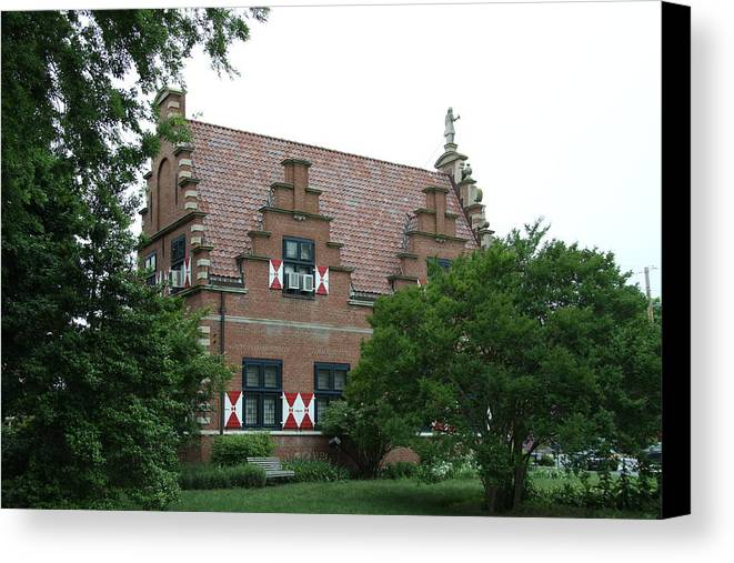 Dutch Canvas Print featuring the photograph Dutch Building - Henlopen by Christiane Schulze Art And Photography