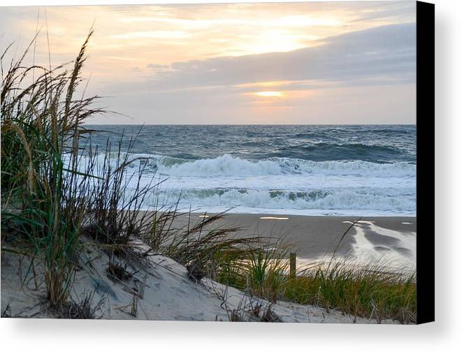 Oceanscape Canvas Print featuring the photograph Early Morning View by Mike Rosansky