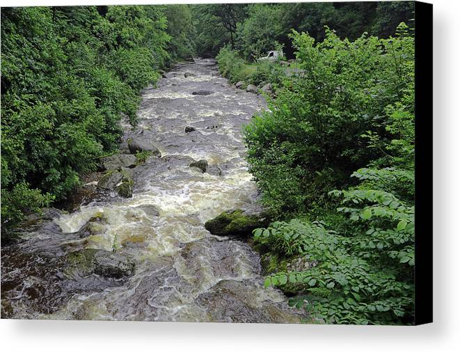 East Lyn River Canvas Print featuring the photograph East Lyn River by Tony Murtagh