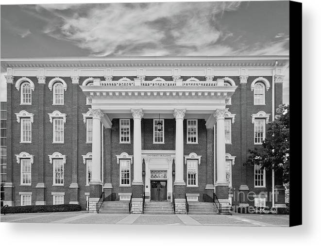 Eastern Kentucky University Canvas Print featuring the photograph Eastern Kentucky University Building by University Icons