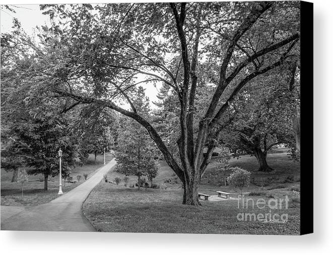 Eku Canvas Print featuring the photograph Eastern Kentucky University The Ravine by University Icons
